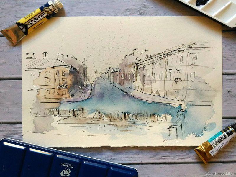 Скетчинг на крыше Петербурга с профессиональным художником - экскурсия в Санкт-Петербурге