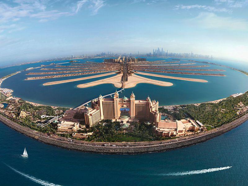 Пальма Джумейра иДубай Марина наморской прогулке - экскурсия в Дубае
