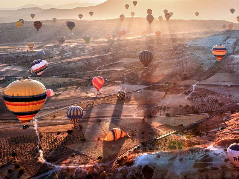 Каппадокия — на большом воздушном шаре - экскурсия в Каппадокии