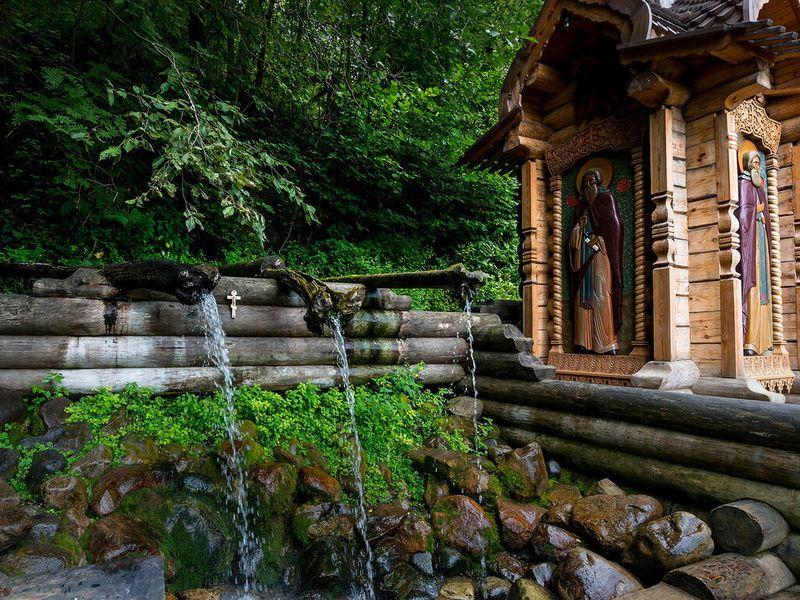 Водопад Гремячий ключ ирусская Гефсимания - экскурсия в Сергиевом Посаде