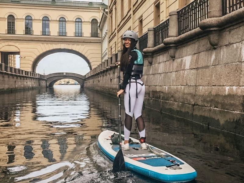 По каналам и Большой Неве на sup-борде - экскурсия в Санкт-Петербурге