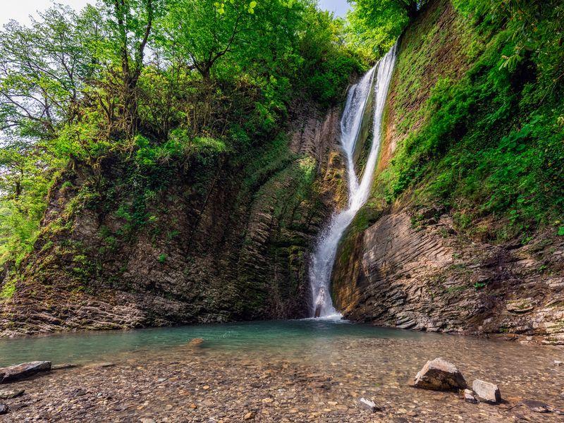 Маршрут здоровья кОреховскому иАжекским водопадам - экскурсия в Сочи