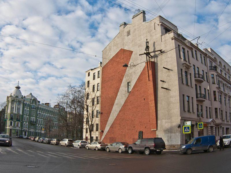 Кирпичная палитра: картины на брандмауэрах Петербурга - экскурсия в Санкт-Петербурге